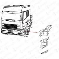 SIDE SUPPORT(SMC), L для IVECO EUROSTAR 440 Covind 440/243