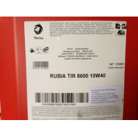 Масло TOTAL RUBIA TIR 8600 10W40 20L Total 110801
